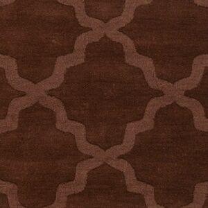 Overstock Hand-Woven Amy Tone-on-Tone Lattice Wool Rug (Grey - 6' Round)