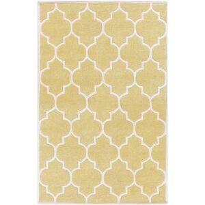 Surya Carpet Hand-tufted Juliet Moroccan Tile Wool Area Rug - 4' x 6' (4' x 6' - Yellow)