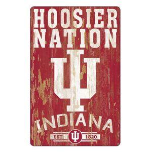 Overstock Indiana Hoosiers Sign 11x17 Wood Slogan Design