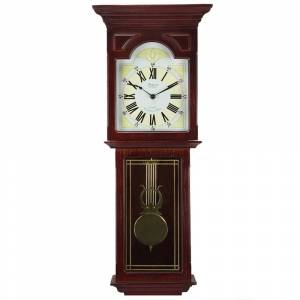 Bedford Clock Collection Redwood 23 in. Chiming Wall Clock (Redwood)