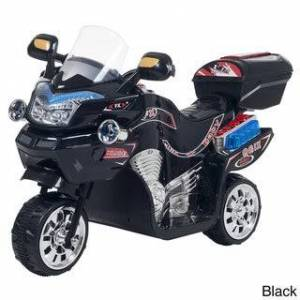 Trademark Ride on Toy, 3 Wheel Motorcycle  for Kids by Lil? Rider ? Battery Powered Ride on Toys for Boys & Girls (Black)