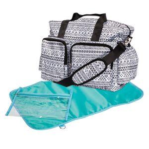 Trend Lab Black and White Aztec Deluxe Duffel Diaper Bag (Black)