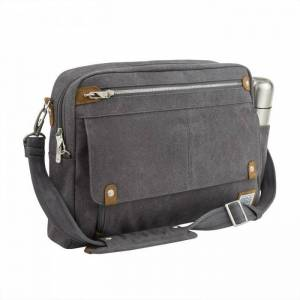 Travelon Heritage Anti-theft Messenger Briefcase (Oatmeal)