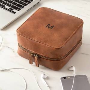 Cathy's Concepts Personalized Brown Travel Tech Case (O)