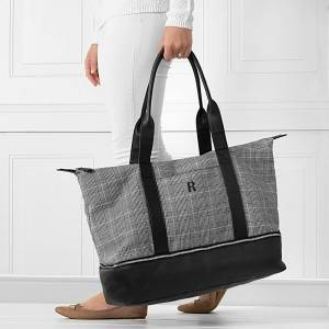 Cathy's Concepts Personalized Glen Plaid Luggage Tote (D)