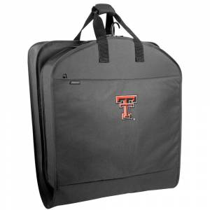 """Wally Bags Texas Tech Red Raiders 40"""" Suit Length Garment Bag with Pockets - 40 x 22 x 3 (Black)"""