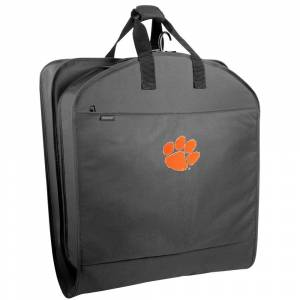 """Wally Bags Clemson Tigers 40"""" Suit Length Garment Bag with Pockets - 40 x 22 x 3 (Black)"""
