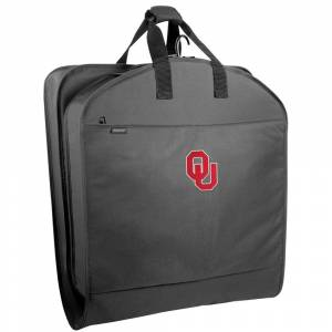 """Wally Bags Oklahoma Sooners 40"""" Suit Length Garment Bag with Pockets - 40 x 22 x 3 (Black)"""
