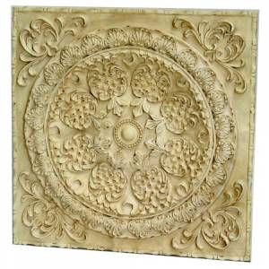 Heather Ann Creations 25-inch Round Pomegranite Shell Center Square Plaque