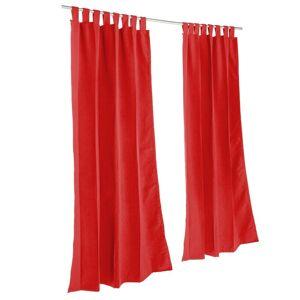 Sunbrella Pawleys Island Sunbrella Curtain -  Canvas Jockey Red (96 Inches)