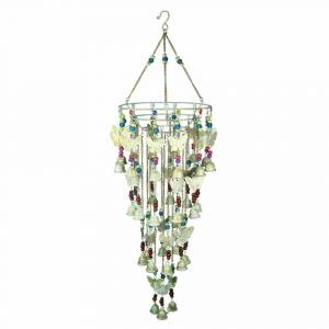 Benzara Splendid Iron Wind Chime, Multicolor