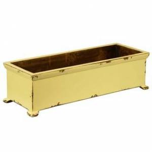 Antique French Planter with arched Legs (Yellow)