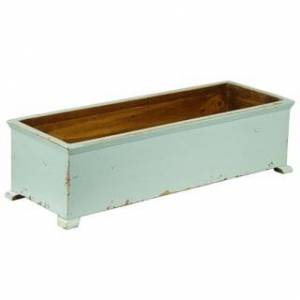 Antique French Planter with arched Legs (Blue)