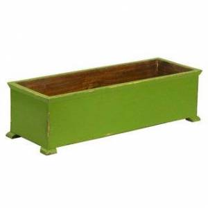 Antique French Planter with arched Legs (Green)