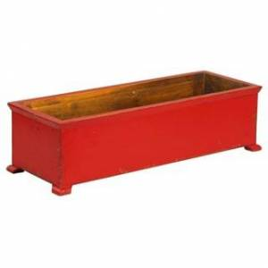 Antique French Planter with arched Legs (Red)
