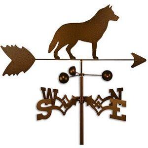 SWEN Products Handmade Siberian Husky Dog Copper Weathervane (Flat Mount)