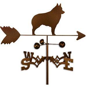 SWEN Products Handmade Schipperke Dog Copper Weathervane (Roof Mount)