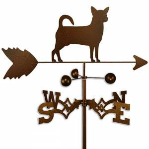 SWEN Products Handmade Chihuahua Dog Copper Weathervane (Side Mount)