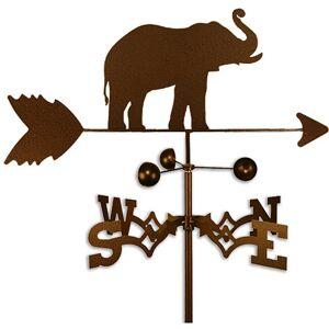 SWEN Products Handmade Elephant Weathervane (Flat Mount)