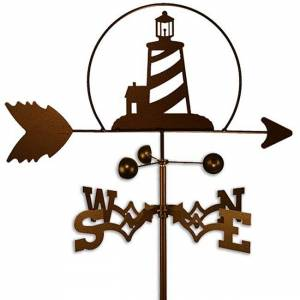 SWEN Products Handmade Nautical Lighthouse Weathervane (Roof Mount)