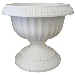 Bloem 18-inch Grecian White Pedestal Urn (Made in the USA)