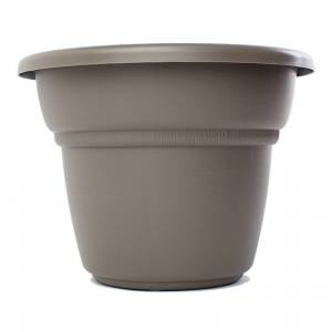 Bloem Milano Peppercorn Planter (28in is 27.5 inches in diameter x 20.62inches high)