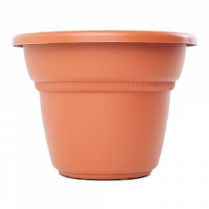 """Bloem Milano Terra Cotta Planter - 12"""" (24in is 23.75 inches in diameter x 18 inches high)"""