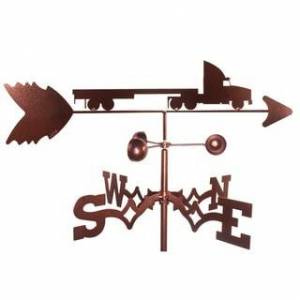SWEN Products Flat Bed Semi Truck Weathervane (Roof Mount)