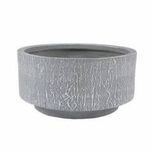 Winsome House Round MgO Fiberclay Planter (17.13in. W x 17.13In. D x 8.63in. H - Light Gray)