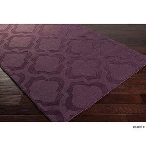 Overstock Hand-Woven Ali Tone-on-Tone Moroccan Trellis Wool Rug (9' x 12') (Navy - 9' x 12')