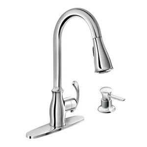 Moen Kipton Single Hole Kitchen Faucet 87910 Chrome (Chrome)