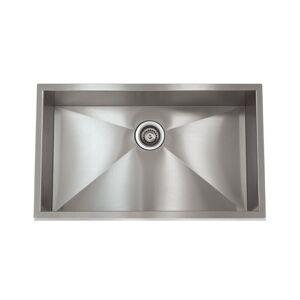 Apogee Zero Radius Stainless Steel 28-inch x 18-inch Sink (28X18)