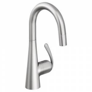 Grohe Ladylux Single Hole Kitchen Faucet 32283SD0 Stainless Steel (Brushed Stainless Steel)