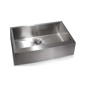 Apogee Zero Radius Farmhouse Stainless Steel Sink (33x21.5x10)