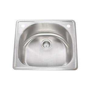 Apogee KBF & MORE  Stainless Steel Drop-in Quarter-round Kitchen Sink (25x22 inch, 18 gauge)