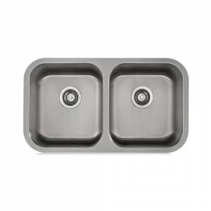 Apogee KBF & MORE  3/4-radius Stainless Steel Undermount Kitchen Sink (31X18, 16 Gauge)