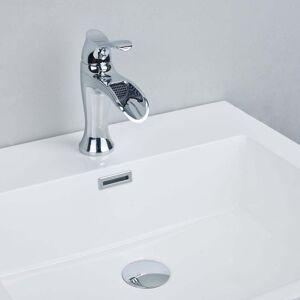 EVIVA Swan Luxury Water-fall Single Handle (Lever) Bathroom Sink Faucet (Chrome)