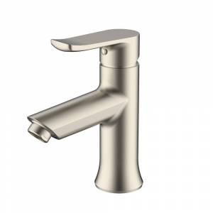 AA Warehousing Single Handle Lavatory faucet in Brushed Nickel Finish