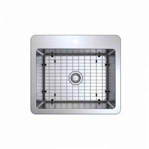 AMS Ancona Valencia Series 25 in. Compact Dual Mount Single Bowl Kitchen Sink