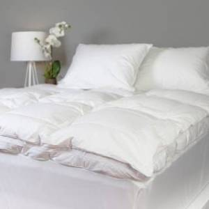 Allied Grandeur Collection 300 Thread Count Cotton Down and Goose Featherbed - white (King)