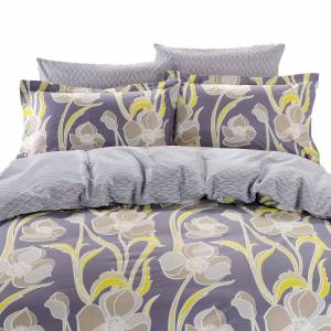 Dolce Mela Nafplio 6-piece Cotton Duvet Cover Bedding Set with Fitted Sheet - Multi-color (Queen)