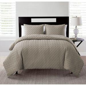 Overstock VCNY Home Nina Comforter Set (Twin XL - Taupe)