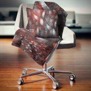 DESIGN ART Designart 'Crystal Cell Red Steel Texture' Abstract Throw Blanket (71 in. x 59 in.)