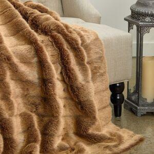 Plutus Brands Plutus Frost Mink Light Brown Faux Fur Luxury Blanket (blanket 70l x 90w twin)