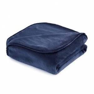 "Vellux The Vellux Heavy Weight 12 - 25 lb. Weighted Blanket or Throw (60 x 80""-15 lbs - Navy)"