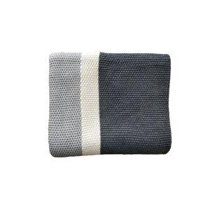 Pink Lemonade Citra collection - cotton throw blanket -Grey/vanilla