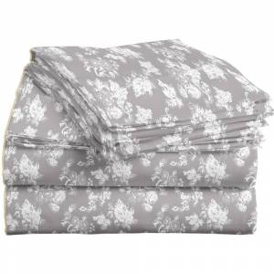 Overstock Flores Oyster Flannel 3-4 piece Sheet Set (Queen - 4 Piece)