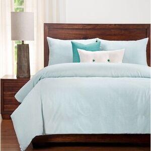 Siscovers Heritage Stripe Cotton Farmhouse Bedding Set (Mist - Twin - 5 Piece)