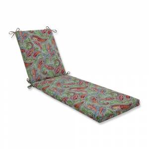 Pillow Perfect Bright & Lively Fiesta Chaise Lounge Cushion 80x23x3 (Green)