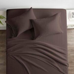 ienjoy Home Restoration Collection 4 Piece Aloe Vera Microfiber Bed Sheet Set (King - Brown)